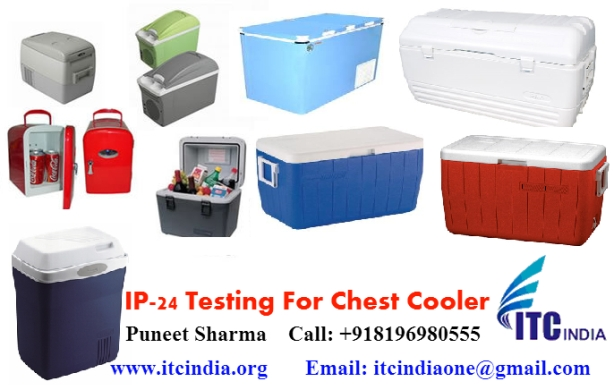 IP 24 testing for Chest Cooler