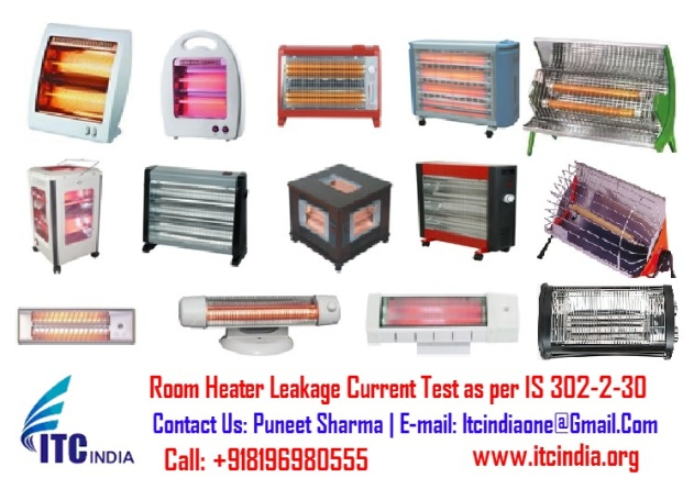 Room Heater Leakage Current Test as per IS 302-2-30