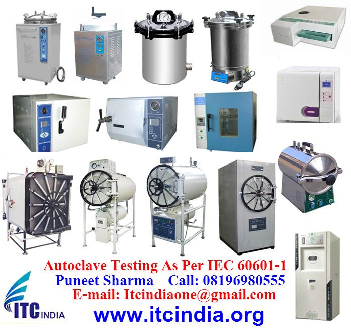 Autoclave Testing As Per IEC/EN 60601-1, IEC /EN 13060, EN 285