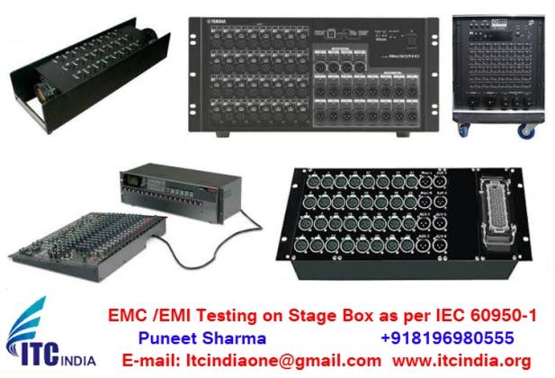 EMC /EMI Testing on Stage Box as per IEC 60950-1 standard