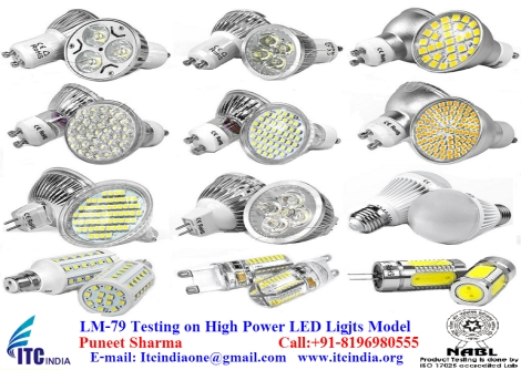 LM-79 testing on High Power LED Light Model