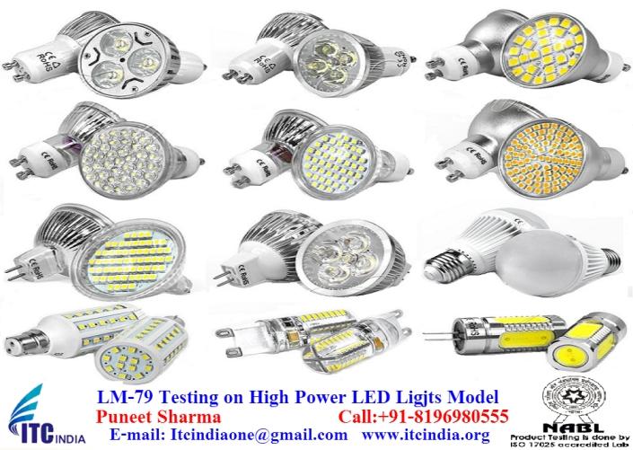 LM-79 testing on High Power LED Light Model