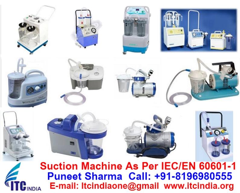 Suction Machine Testing As Per IEC/EN 60601-1, IEC /EN 13060, EN 285