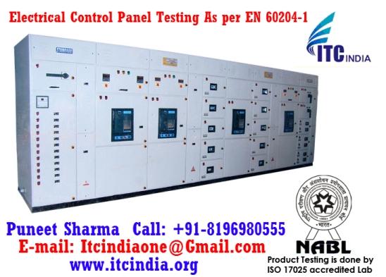 Electrical Control Panel Testing As per EN 60204-1