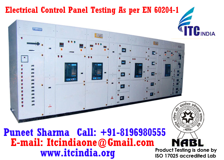 Electrical Control Panel Testing As per EN 60204-1