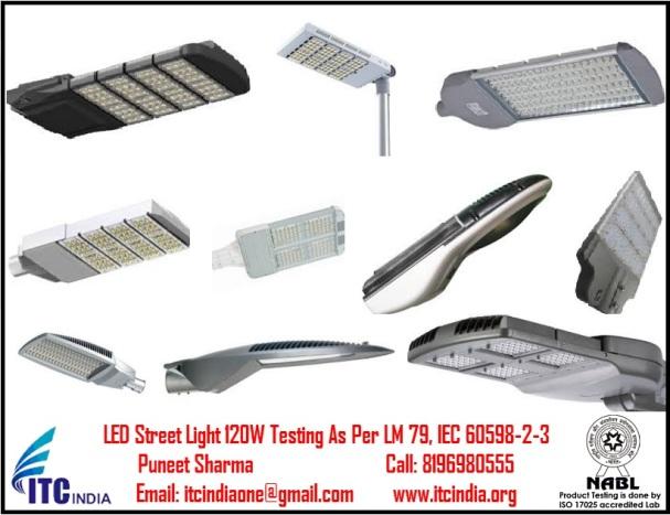 LED Street Light 120W Testing As Per LM 79, IEC 60598-2-3