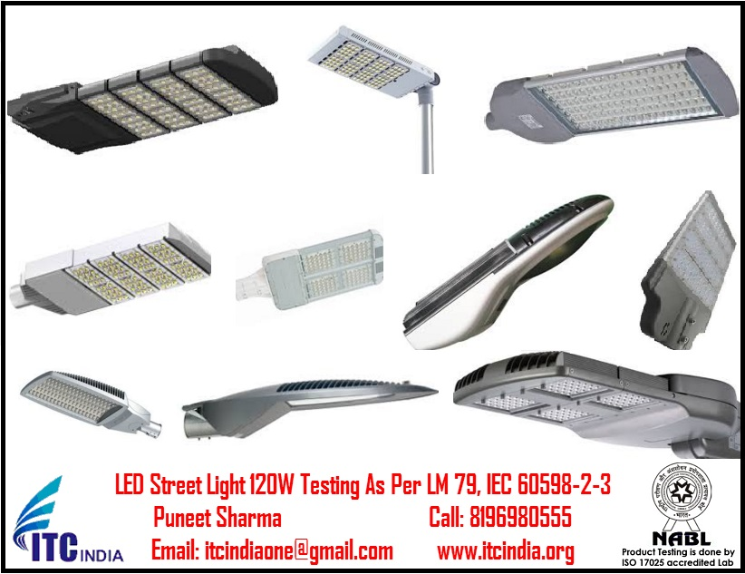LED Street Light 120W Testing As Per LM 79, IEC 60598-2-3