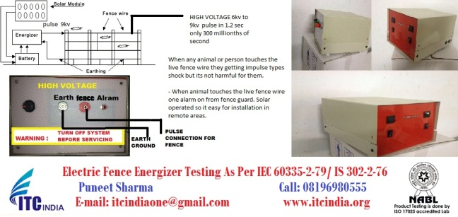 Electric Fence Energizer Testing As per IEC 60335-2-79/ IS 302-2-76