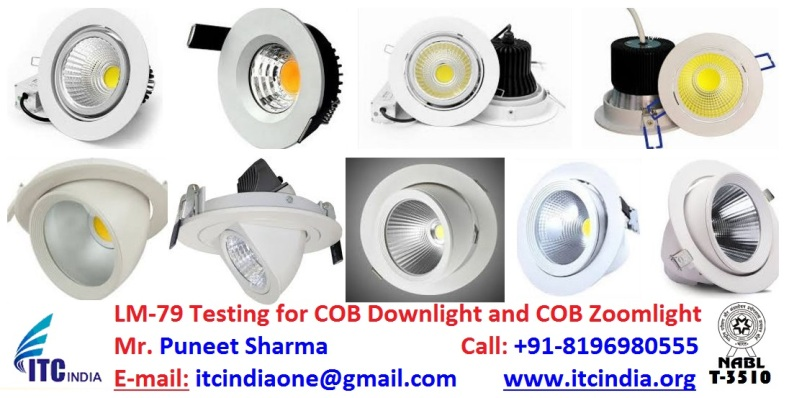 LM-79 testing for COB Downlight and COB Zoomlight in Mumbai Maharashtra India