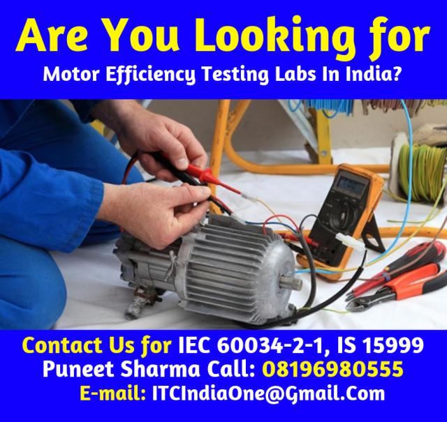 Motor Efficiency Testing Labs In India